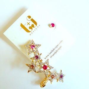🛍BOGO HALF OFF🛍 NWT Pink Crystal Ear Crawler Set